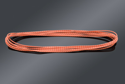 V-Twin Manufacturing Cloth Covered Red Wire 25 Foot length
