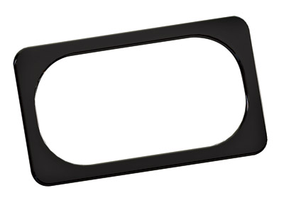 Arlen Ness Smooth Black License Plate Frame