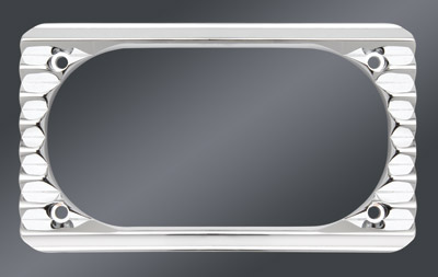 Arlen Ness Retro Chrome License Plate Frame