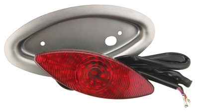 Arlen Ness Cateye Taillight with Weld-in Pocket