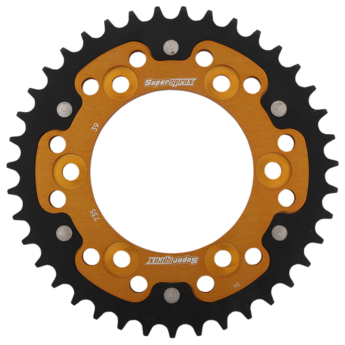 Supersprox Rear Stealth Sprocket 520 39T Gold