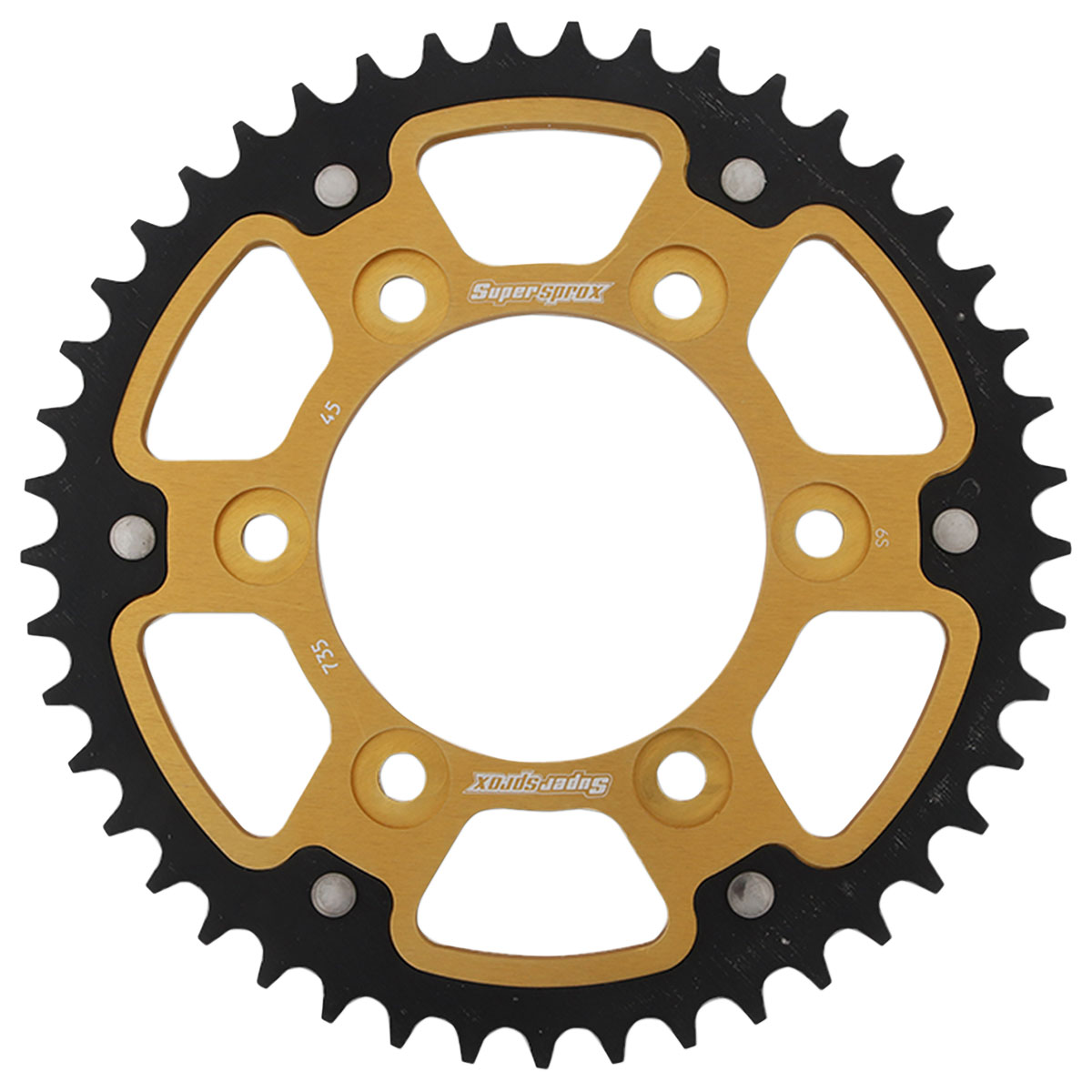 Supersprox Rear Stealth Sprocket 520 45T Gold
