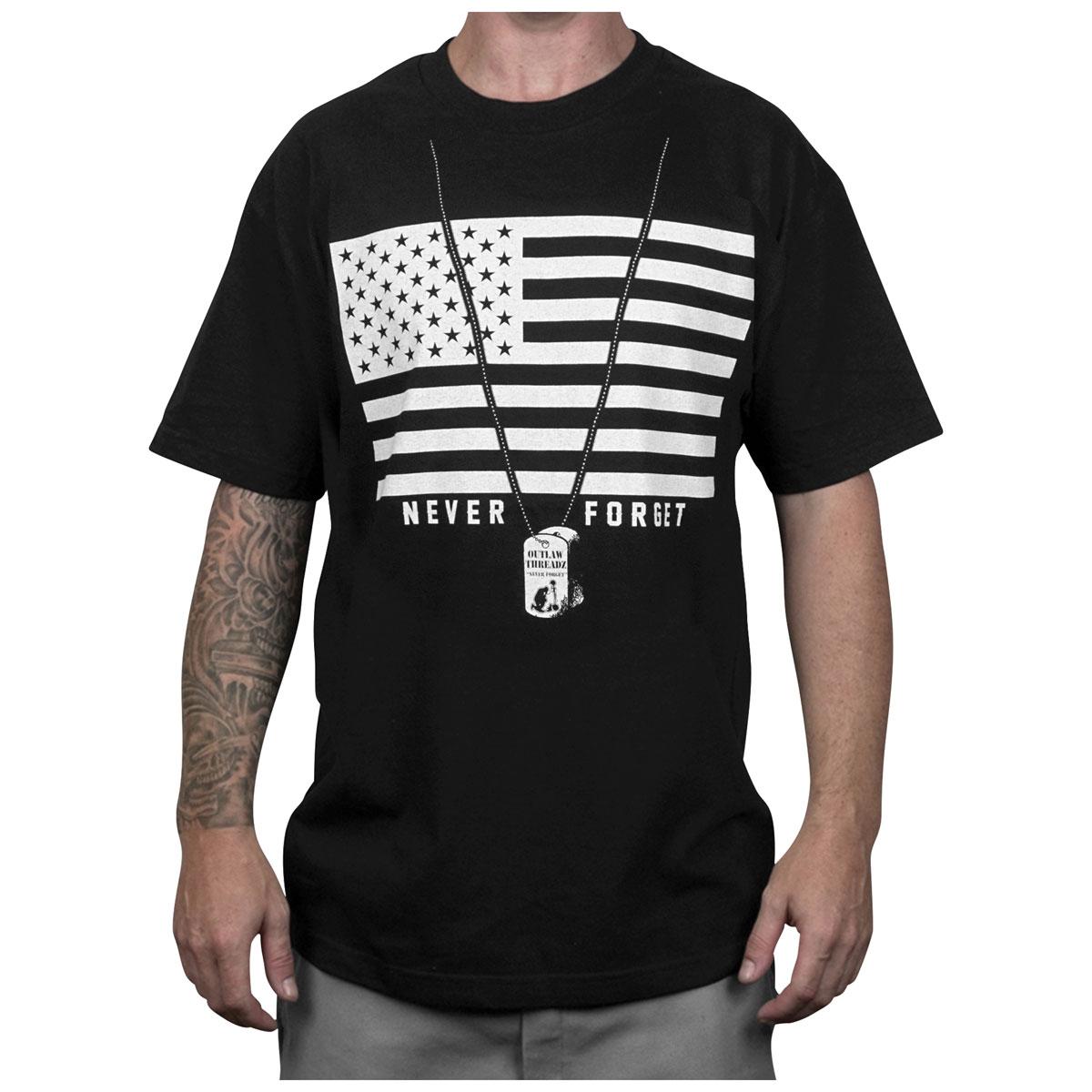 Outlaw Threadz Men's Patriot Black T-Shirt