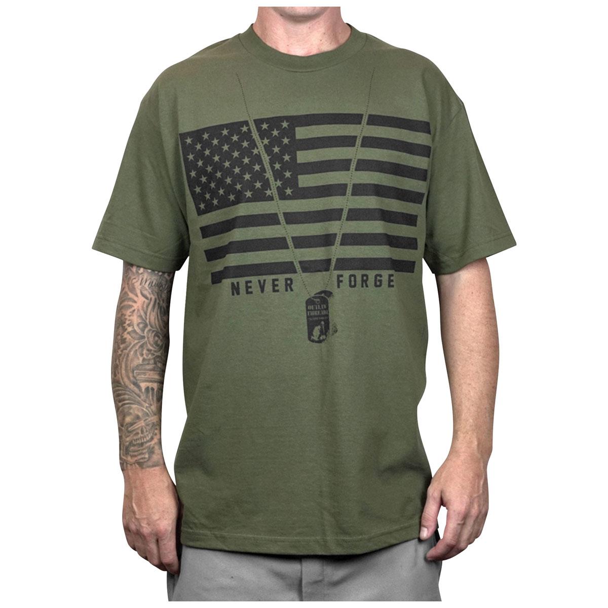 Outlaw Threadz Men's Patriot Green T-Shirt