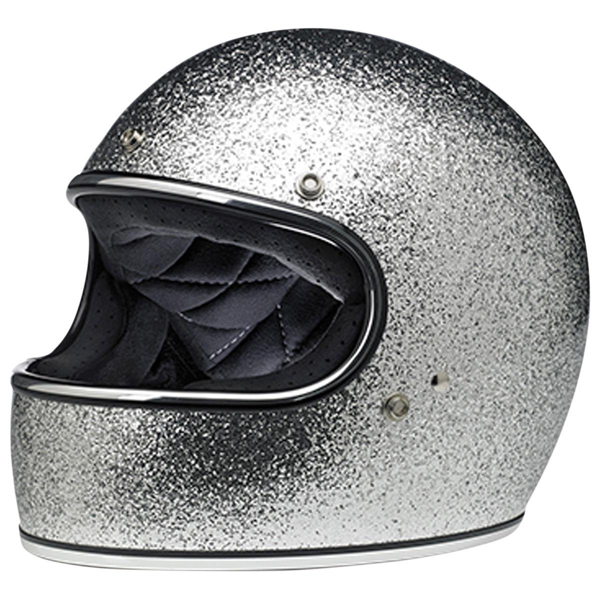 Biltwell Inc. Gringo DOT/ECE Bright Metallic Silver Full Face Helmet