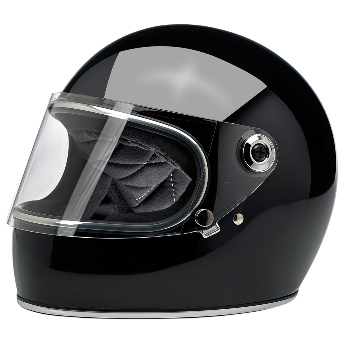 Biltwell Inc. Gringo S DOT/ECE Gloss Black Full Face Helmet