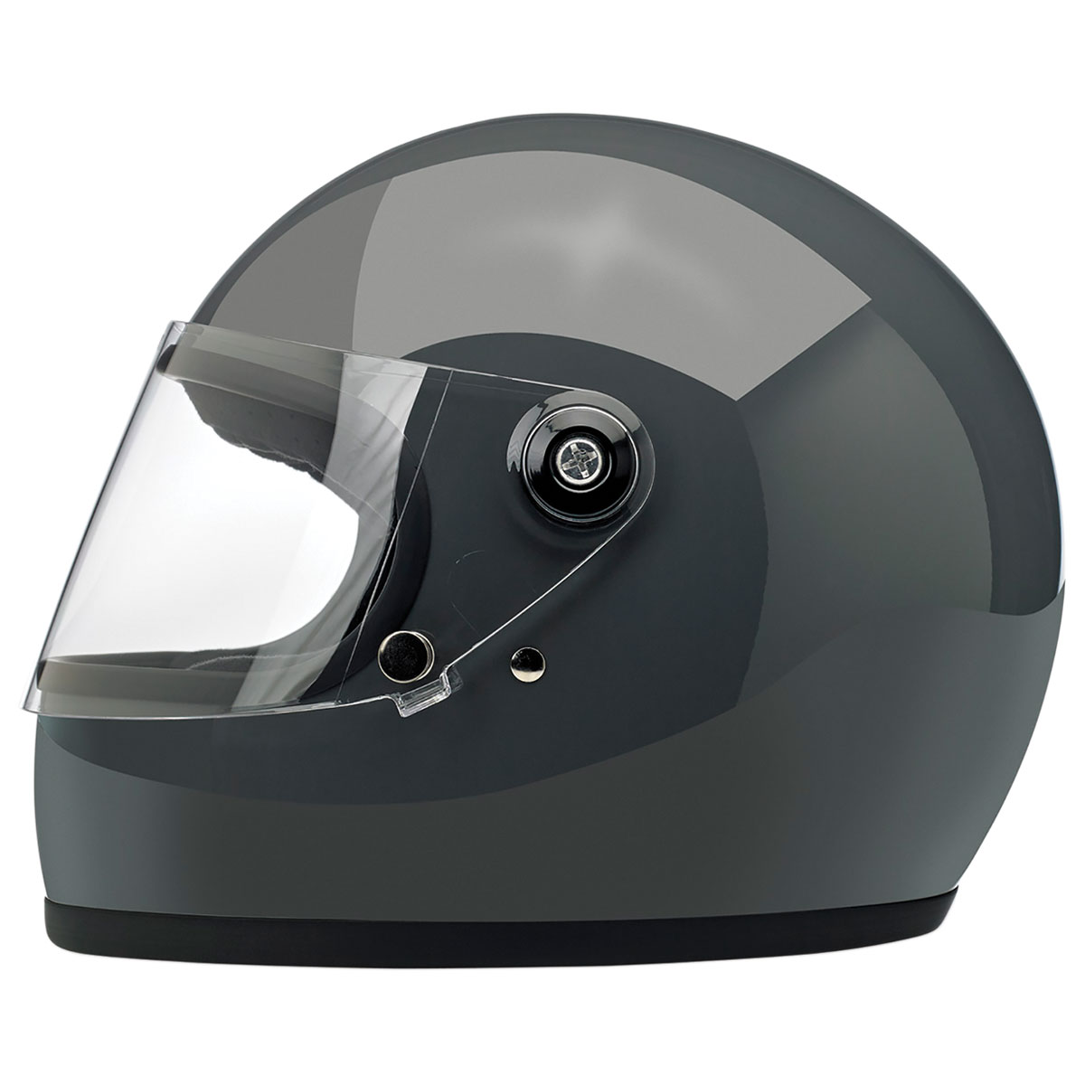 Biltwell Inc. Gringo S DOT/ECE Gloss Gray Full Face Helmet