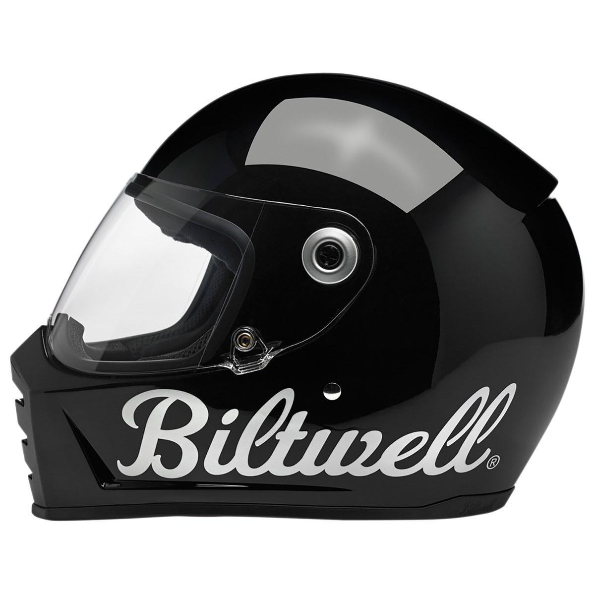 Biltwell Inc. Lane Splitter Factory Gloss Black Full Face Helmet
