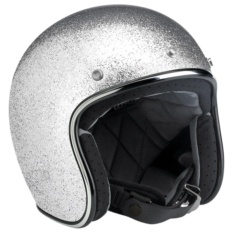 Biltwell Inc. Bonanza Brite Silver Open Face Helmet