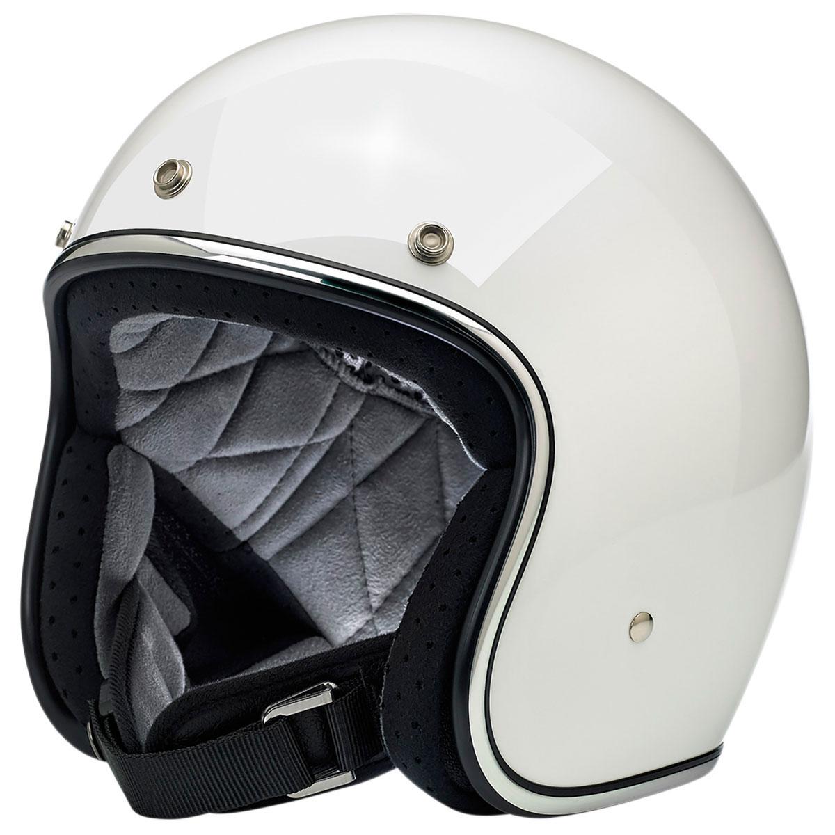 Biltwell Inc. Bonanza Gloss White Open Face Helmet