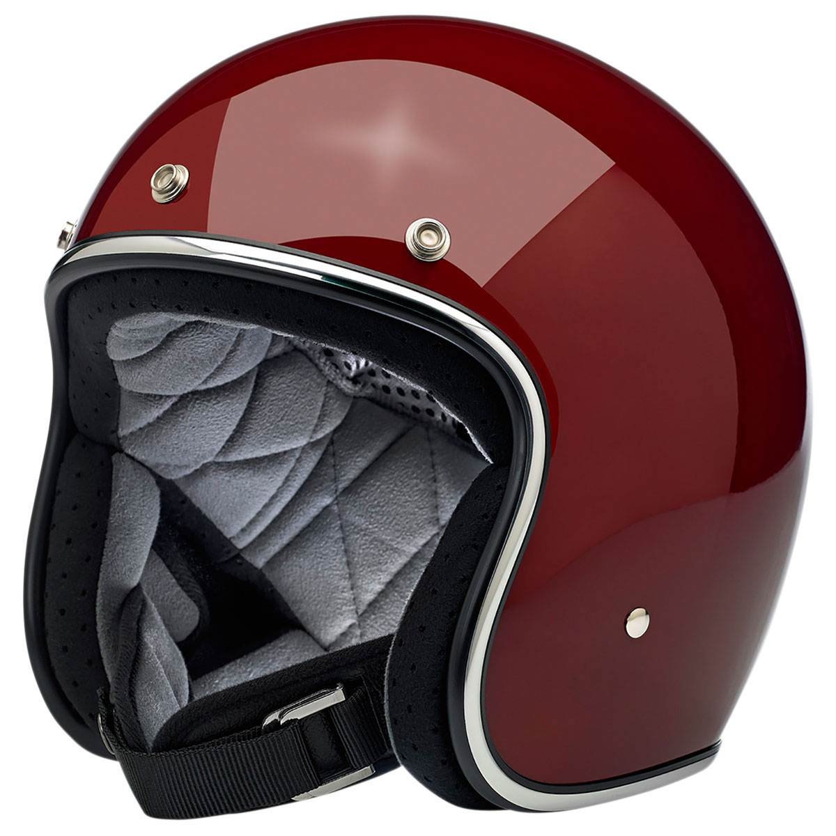 Biltwell Inc. Bonanza Gloss Garnet Open Face Helmet