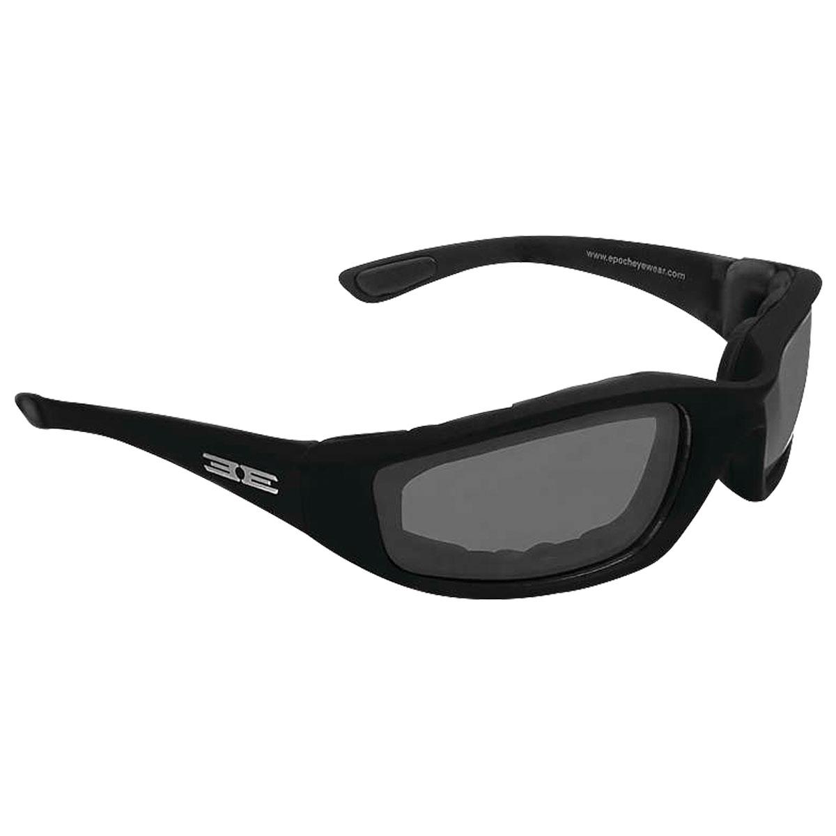 Epoch Eyewear Foam Black Sunglasses with Smoke Lens