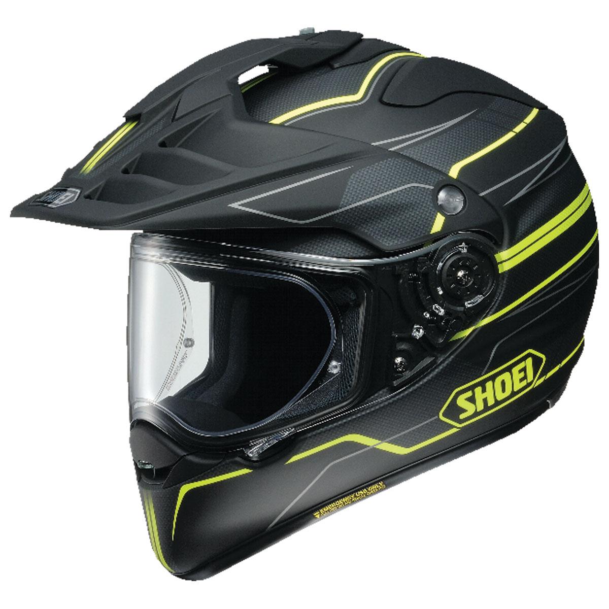 Shoei Hornet X2 Navigate Matte Black/Yellow Dual Sport Helmet