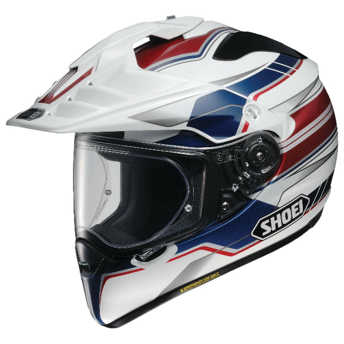 Shoei Hornet X2 Navigate Red/White/Blue Dual Sport Helmet