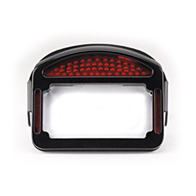 CycleVisions Eliminator Black LED Taillight/License Plate Frame for ...