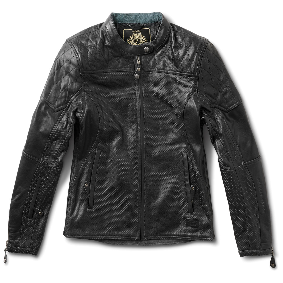 Roland Sands Design Apparel Women's Trinity Black Perforated Leather Jacket