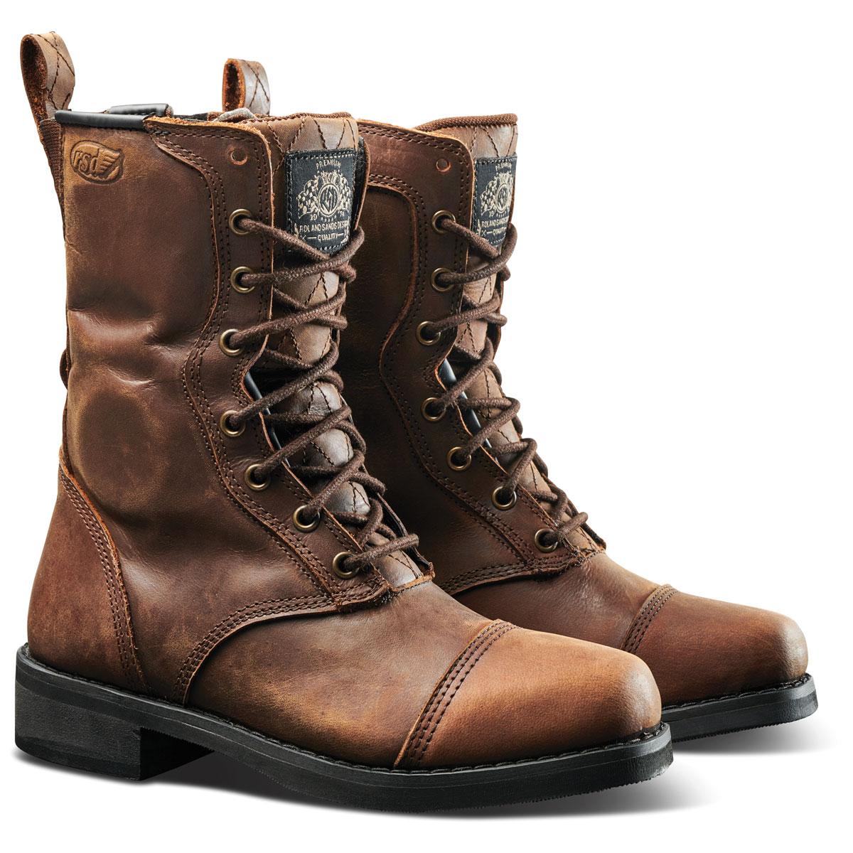 Roland Sands Design Apparel Women's Cajon Brown Leather Boots