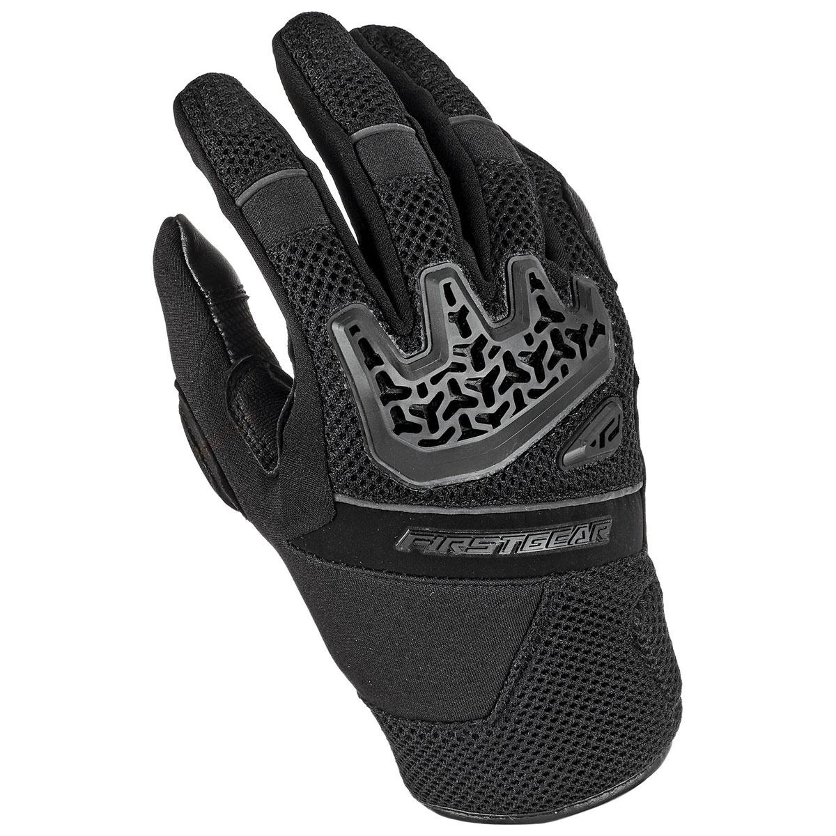 Firstgear Men's Airspeed Mesh Black Gloves