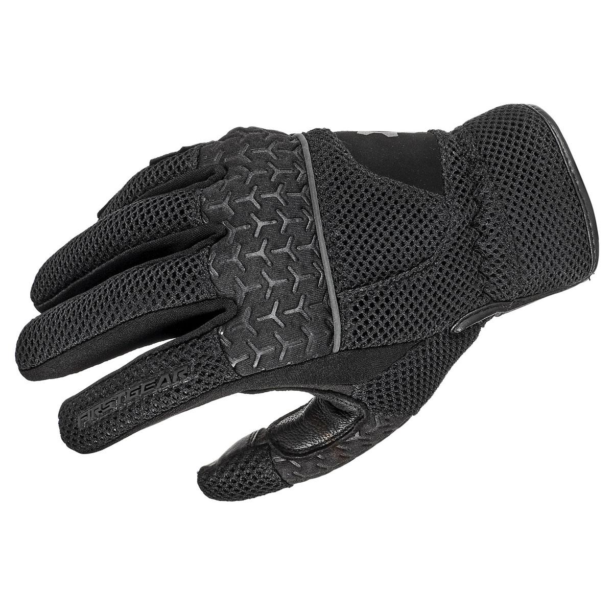 Firstgear Men's Rush Air Mesh Black Gloves