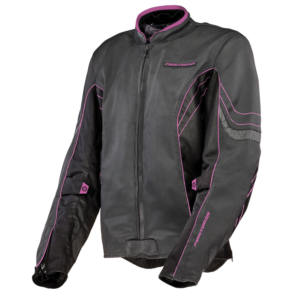 Firstgear Women's Contour Air Mesh Charcoal/Pink Jacket