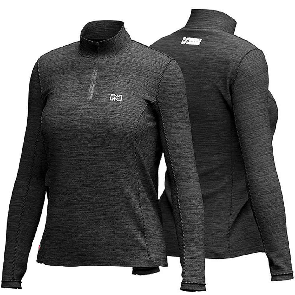 Mobile Warming Women's Ion Heated Long-Sleeve Black Shirt