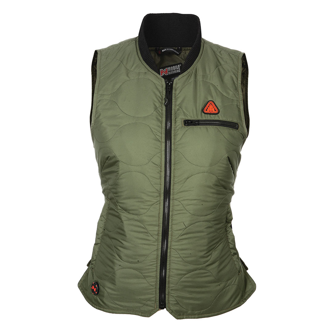 Mobile Warming Women's Company Heated Olive Vest