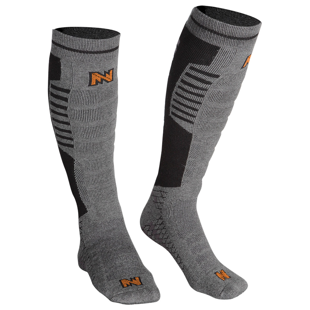 Mobile Warming Performance Heated Gray/Black Socks