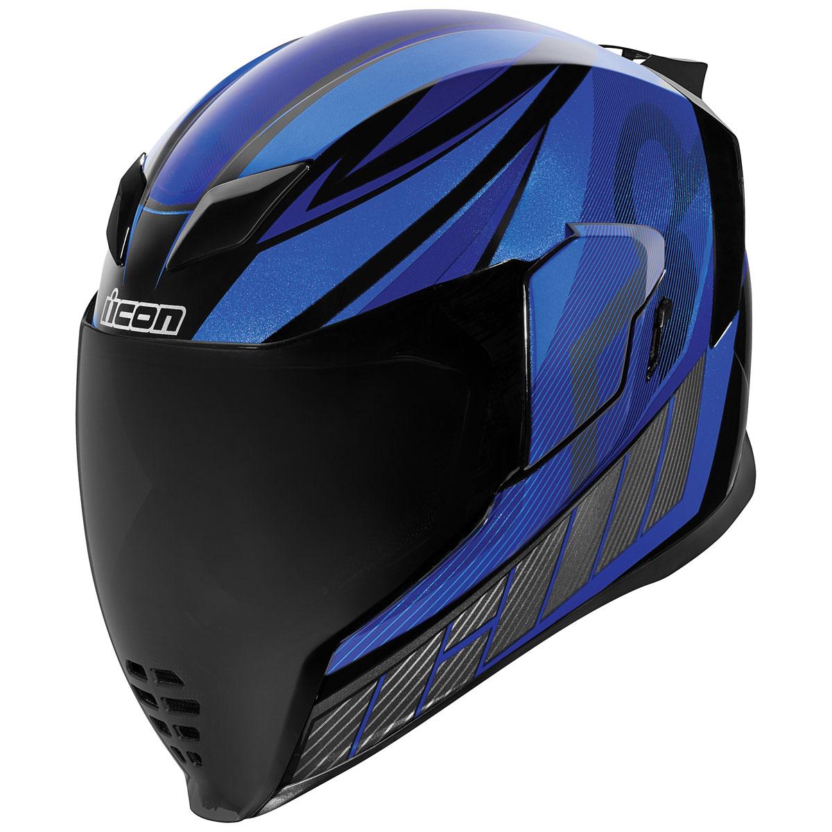 ICON Airflight QB1 Blue Full Face Helmet