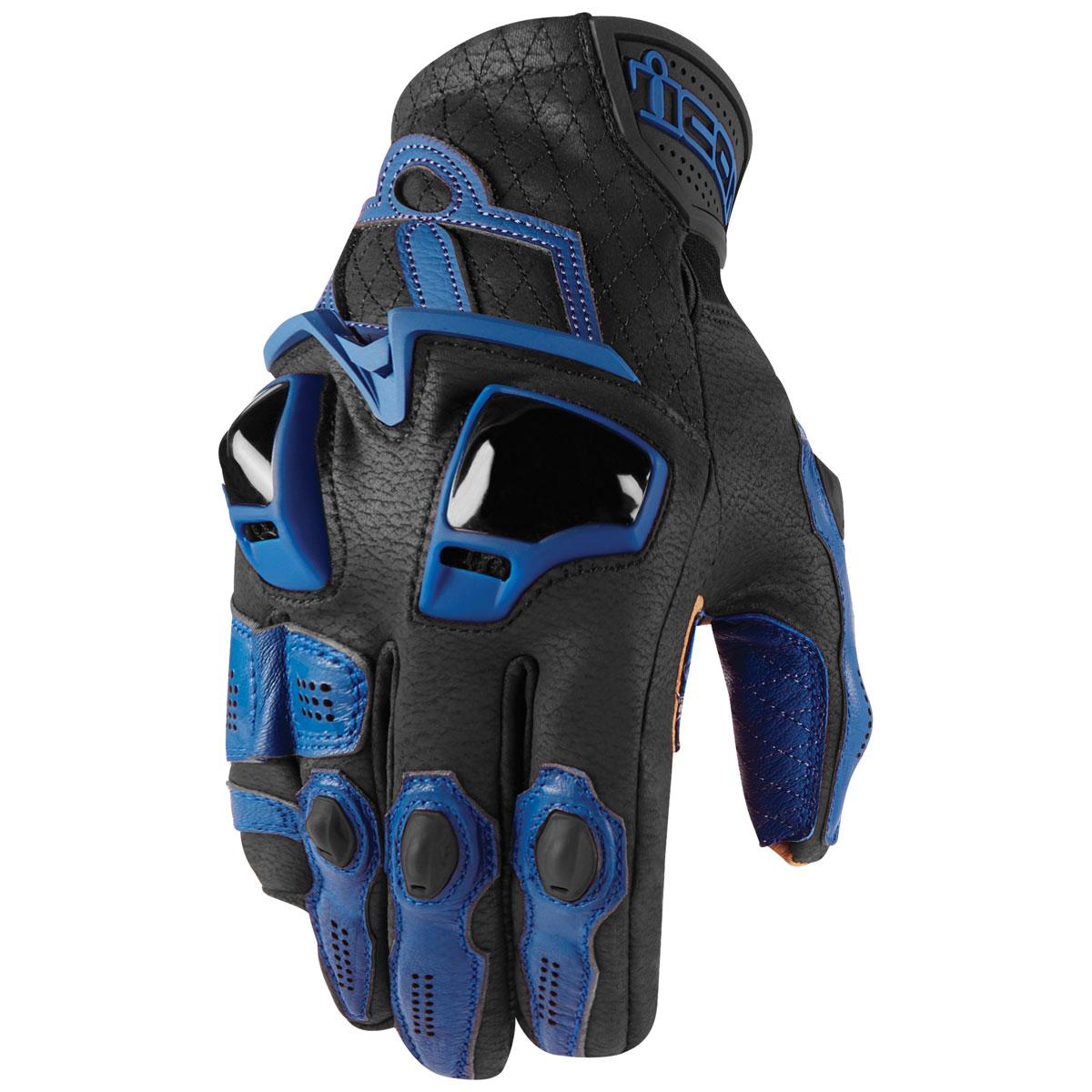 ICON Men's Hypersport Short Blue Gloves