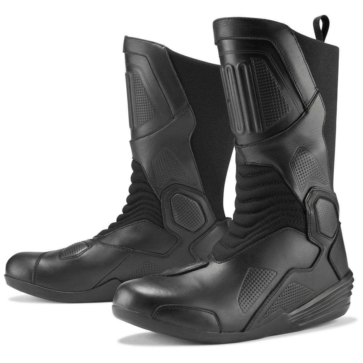 ICON Men's Joker Waterproof Black Leather Boots