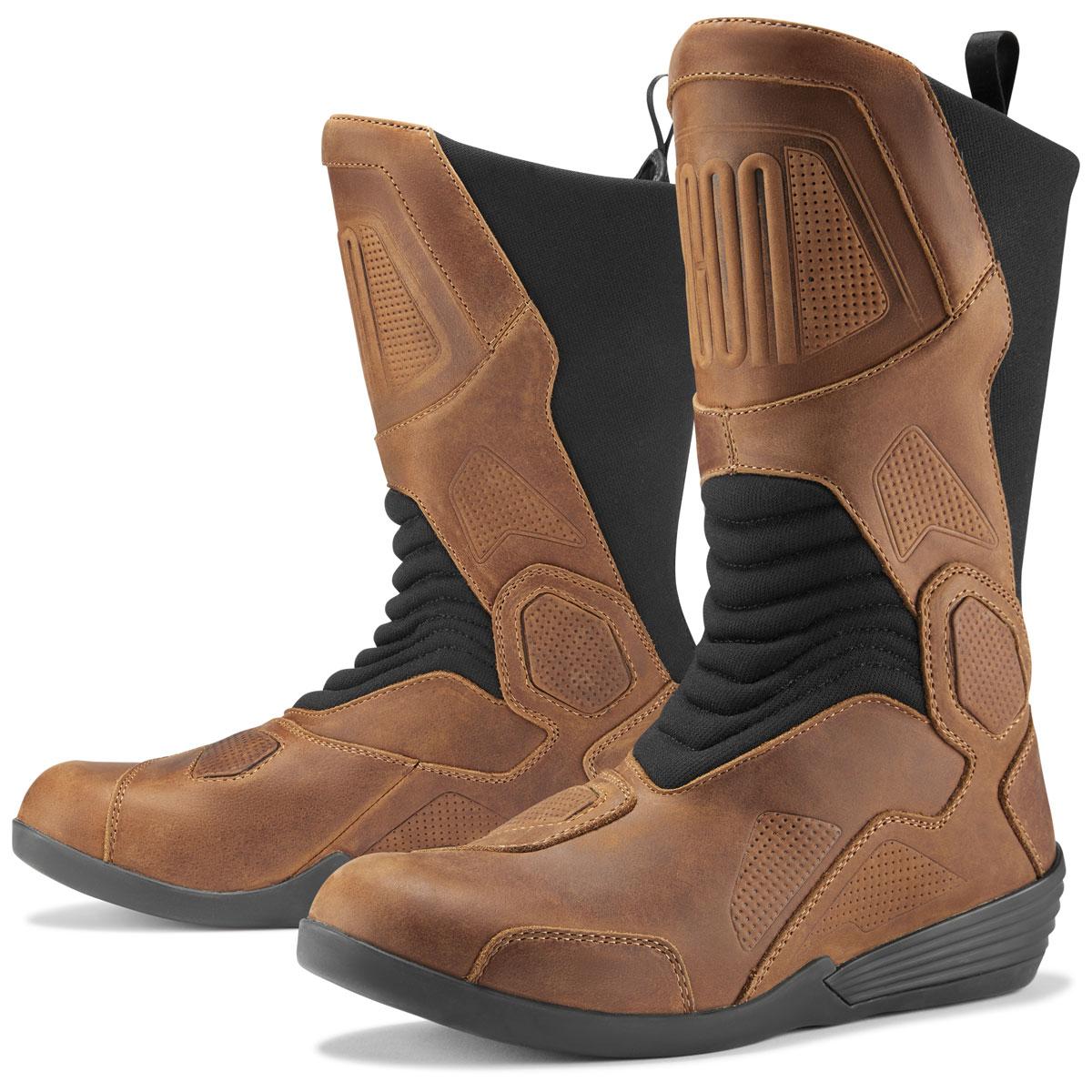 7b0161e971d ICON Men's Joker Waterproof Brown Leather Boots - 3403-0960