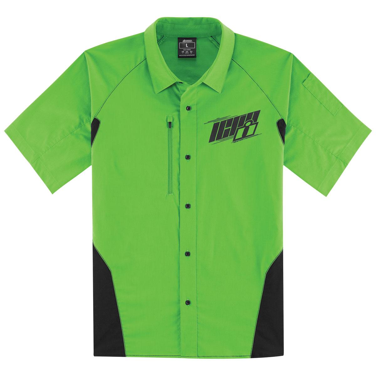 ICON Men's Overlord Green Shop Shirt