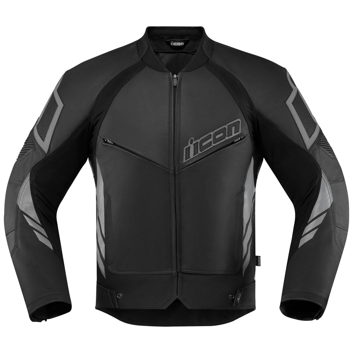 ICON Men's Hypersport 2 Black Leather Jacket