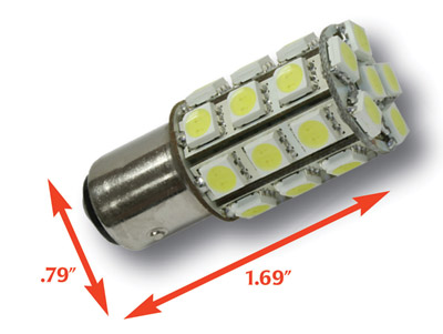 360° 1156 Bulb - Red (LED Replacement Bulb)
