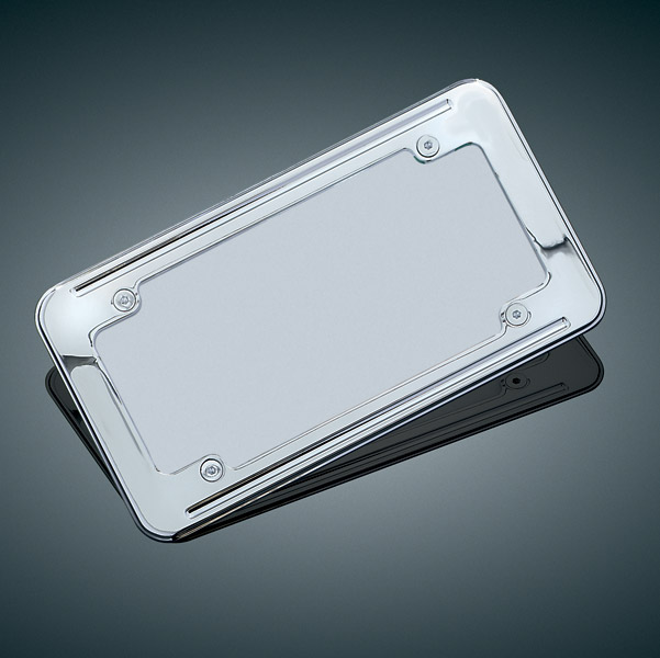 Kuryakyn Ball-Milled License Plate Frame