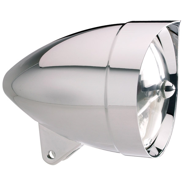 Headwinds 5-3/4″ Chrome Vampire Smooth Concours Rocket Headlight