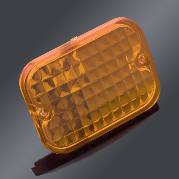 Drag Specialties Amber Replacement Lens for Rectangular Marker Light