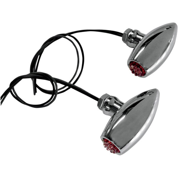 Joker Machine Astro Led Marker Lights Center Mount Chrome Red