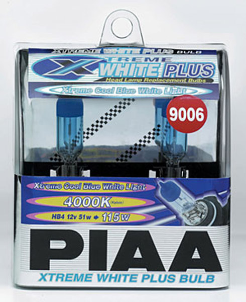 PIAA Powersports Xtreme White Plus 9006 Bulbs