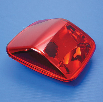 V-Twin Manufacturing Smooth Red Tail Lamp Lens for FXSTD