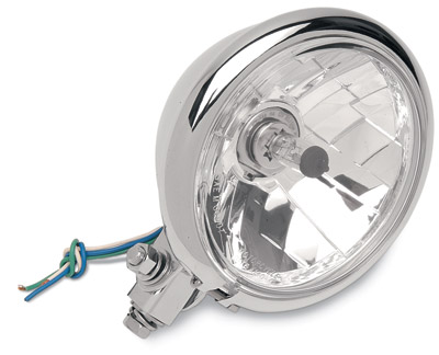 5-3/4″ Diamond-Style Bottom-Mount Headlight for Springer Clear Lens