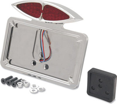 Cateye Taillight And License Plate Mount for FL, FX and Sportster
