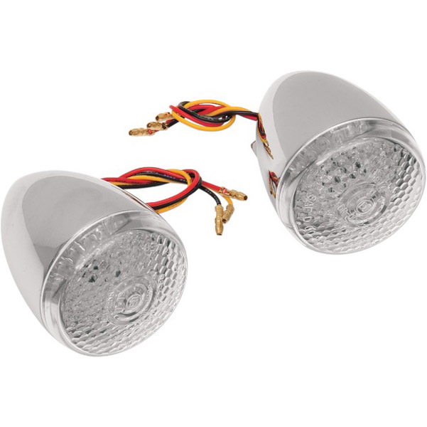Deuce Style Front Signal with Amber LED and Clear Lens