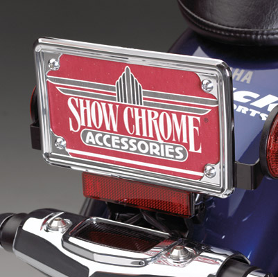 Show Chrome Accessories Contours License Plate Trim