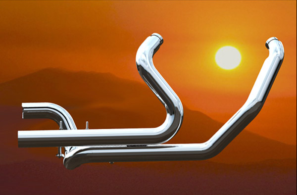 Khrome Werks Chrome Dual Header System for Touring Models