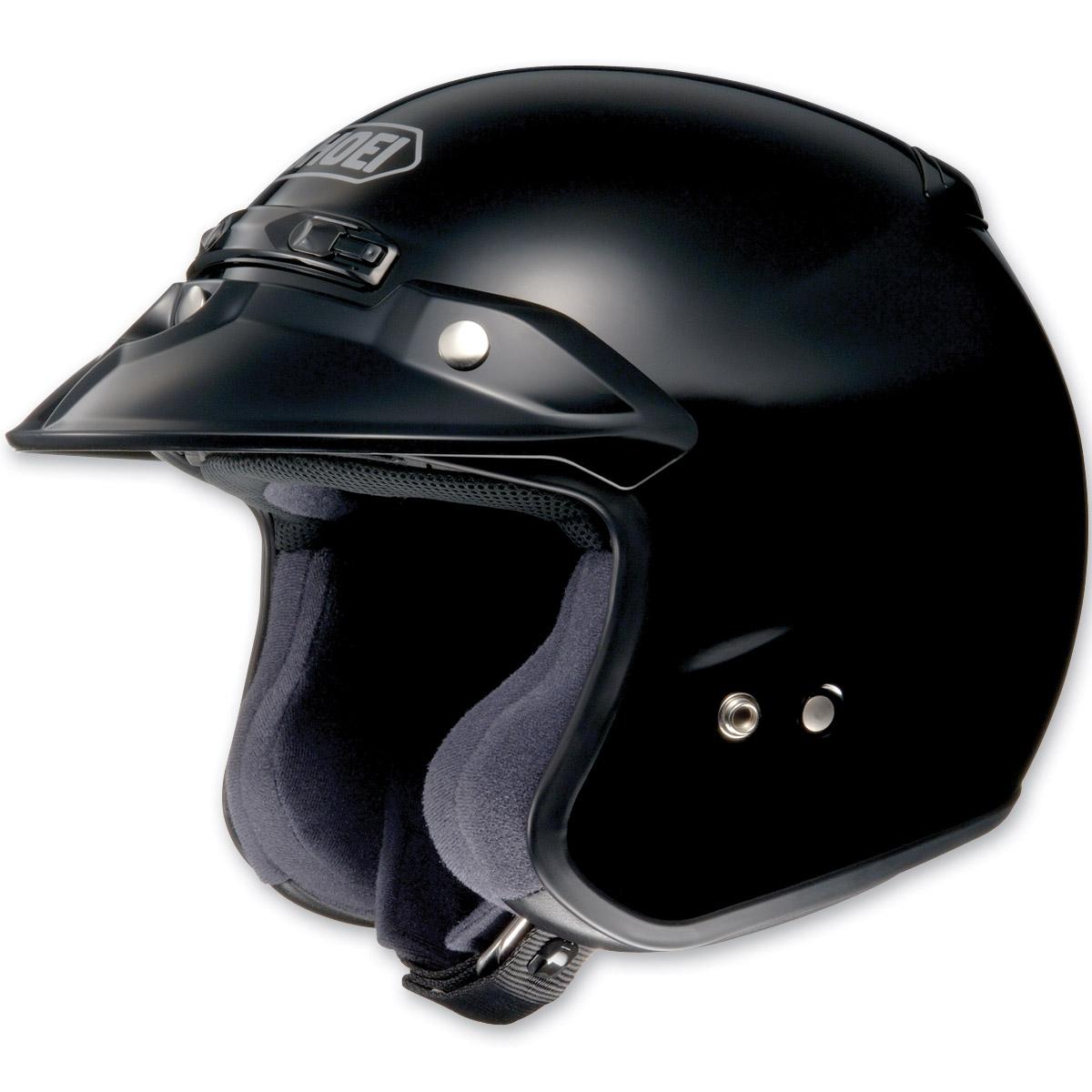 Shoei RJ Platinum-R Black Open Face Helmet