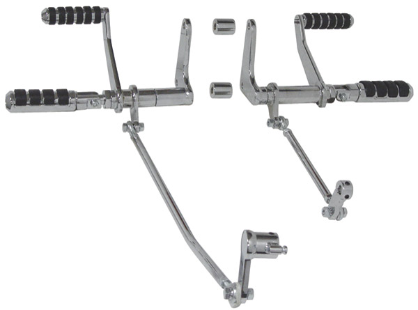 Milwaukee Twins Chrome Forward Controls with comfort pegs for XL Models