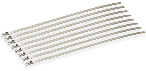 Design Engineering Inc. Stainless Steel Ties 8″