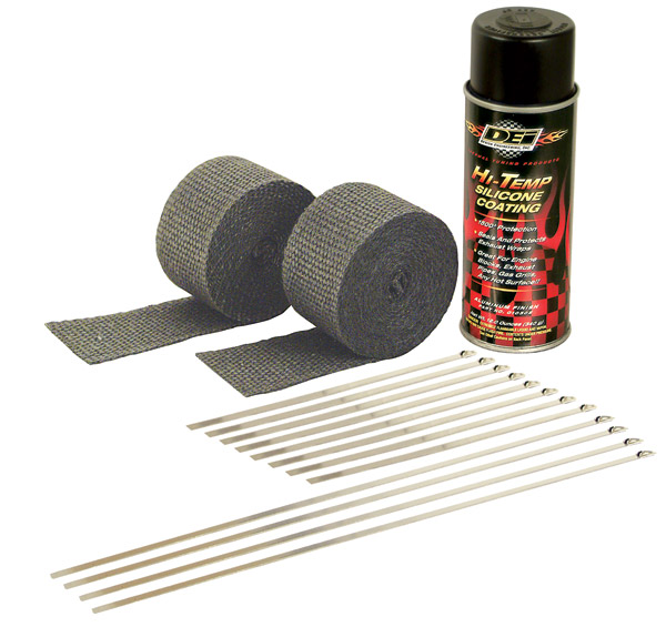 Design Engineering Inc. Motorcycle Exhaust Wrap Kit with Black Wrap