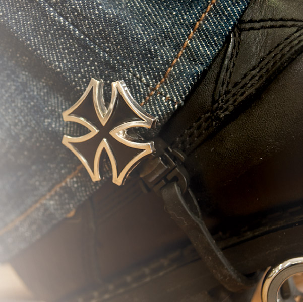 Biker Boot Straps Maltese Cross 4″ Boot Straps